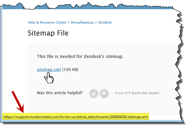 creating zendesk sitemaps help resource center
