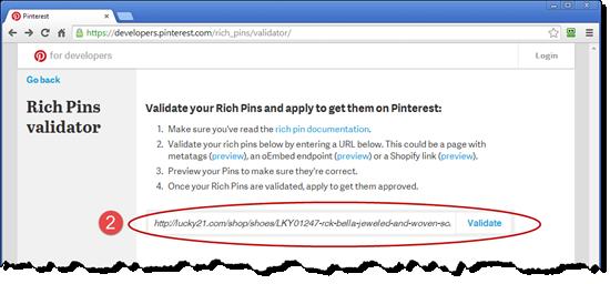 Pinterest Rich Pins Validator