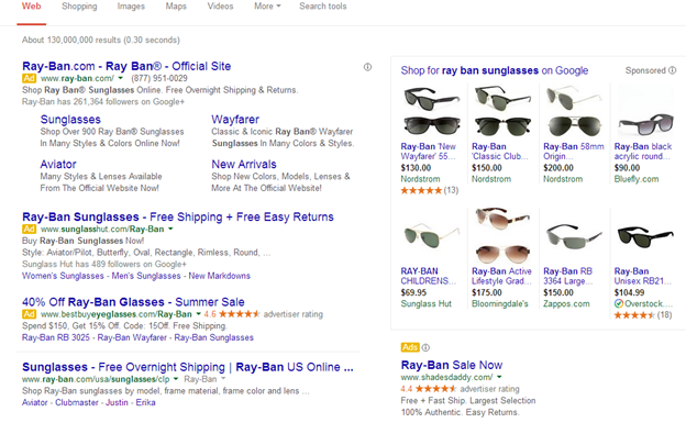 Google Will Match Your Domain Being Used In Adwords With The Reviews They Have For That And Show Er Rating Ad Search