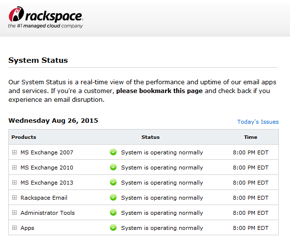 Rackspace Email Outage - August 26, 2015 – Help & Resource